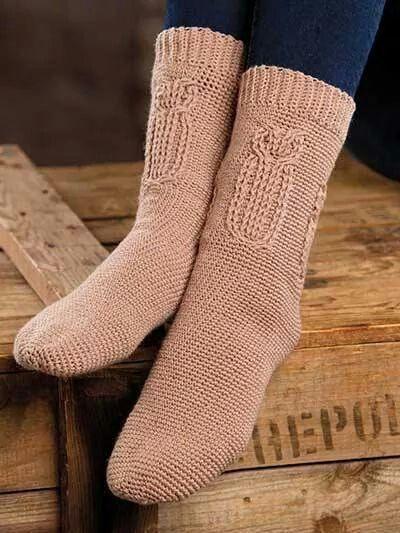 Woodland owl socks