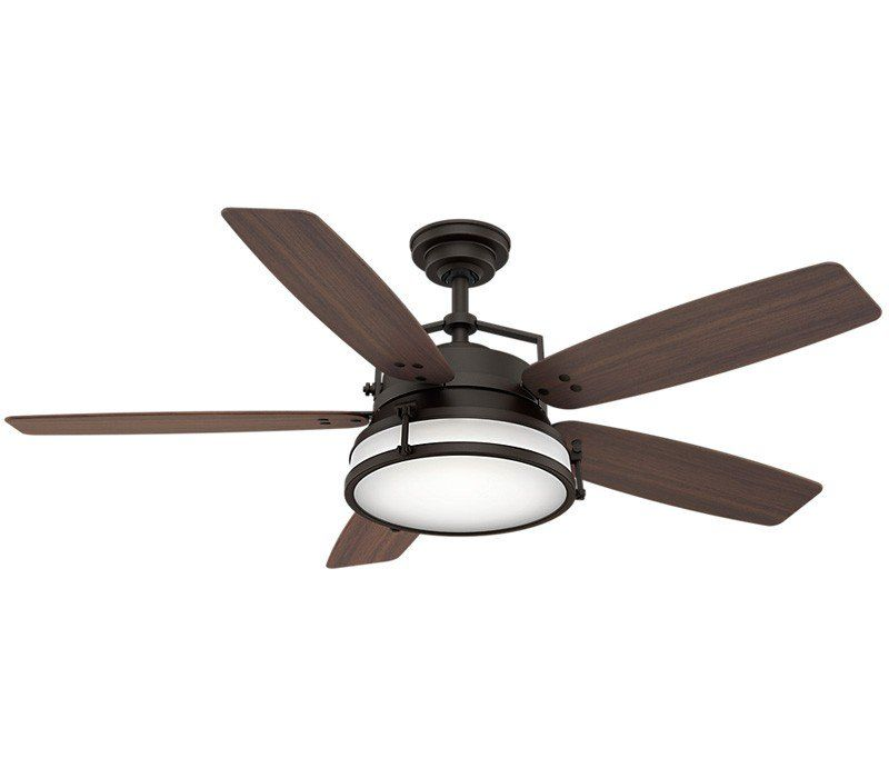 Casablanca 59359 Caneel Bay 56 Outdoor High Airflow Ceiling Fan With Led Light And Wall Control Aged Steel Ceiling Fan Ceiling Caneel Bay