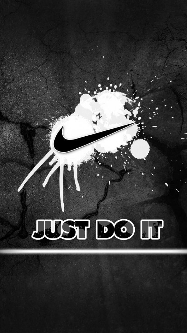 Art Creative Nike Just Do It Motivation Logo White Black HD IPhone Wallpaper