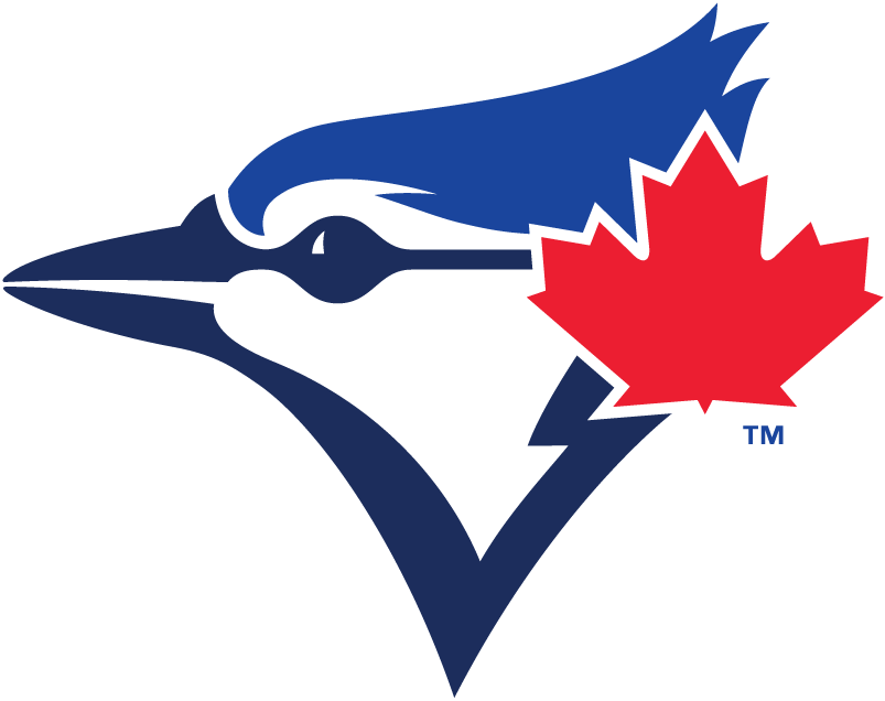Toronto Blue Jays Alternate Logo 2012 Blue Jay Head In Two Shades Of Blue With Large Red Maple Toronto Blue Jays Logo Toronto Blue Jays Blue Jays Baseball