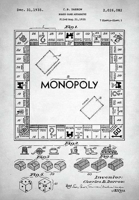 Monopoly patent monopoly patent poster board game art monopoly monopoly patent monopoly patent poster board game art monopoly blueprint board games monopoly board game family game gaming parker brother malvernweather Image collections