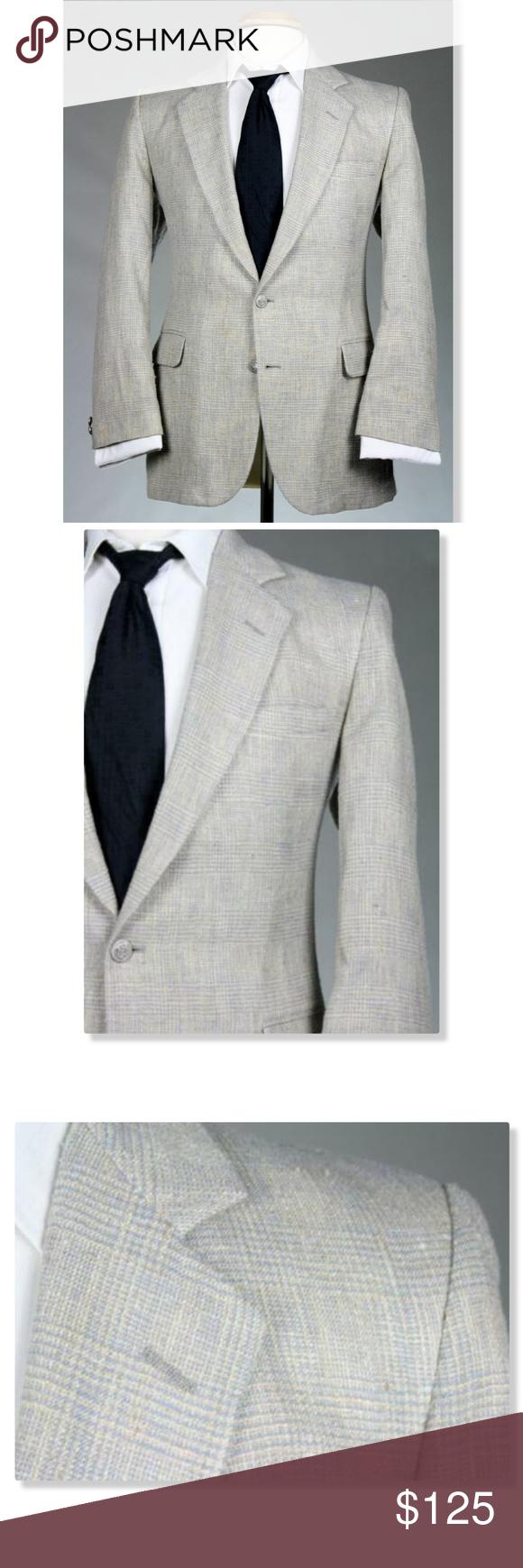 Vintage Grey Wool Blazer  34 chest  by Pierre Cardin