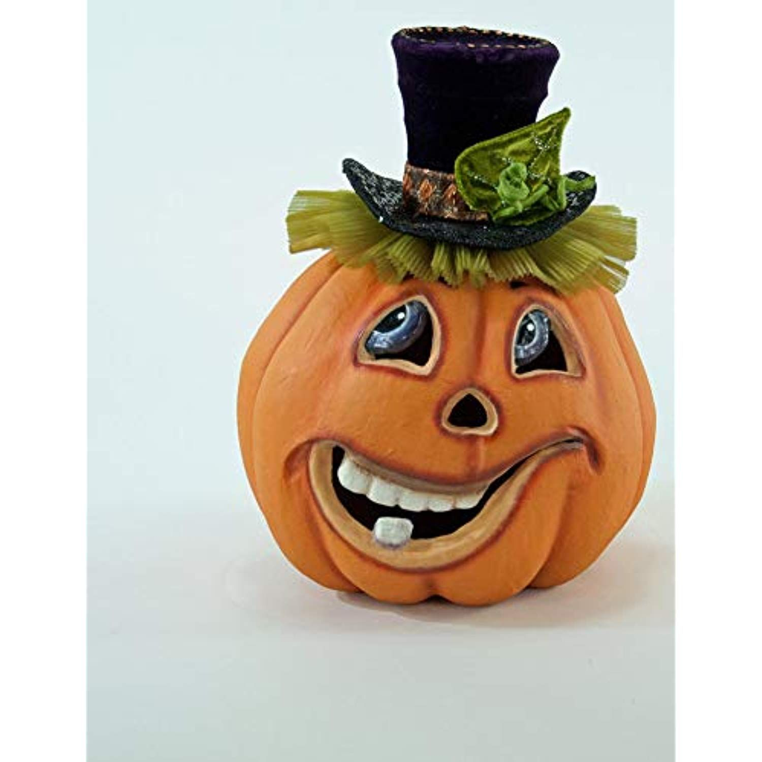 "Katherine's Collection Short Carved Pumpkin Face 12.5"" 28"