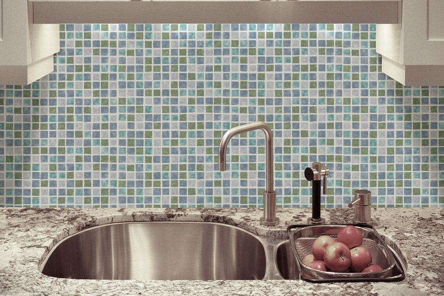 Tile Backsplash With Wallpaper Instead Brilliant And Money Saving