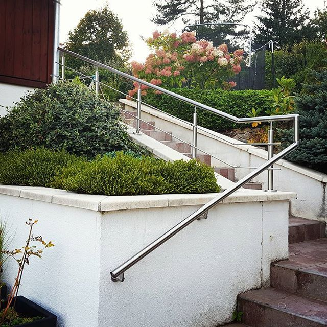 Main courante Inox pour escalier extérieur Garde corps Inox - fabriquer escalier exterieur bois