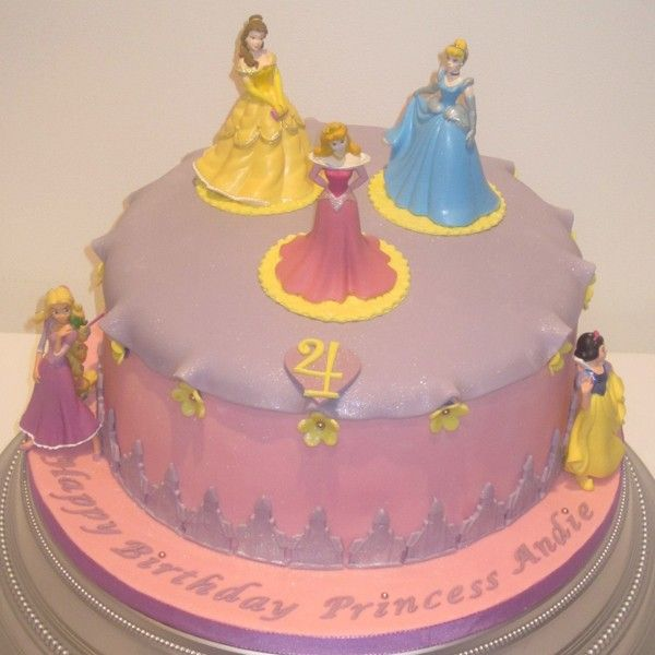 Cakes gt Celebration One Tier Disney Princess Birthday Cake