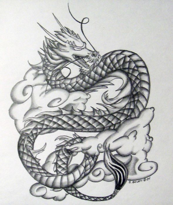 Chinese Tattoo Images Designs: Chinesedragon.jpg