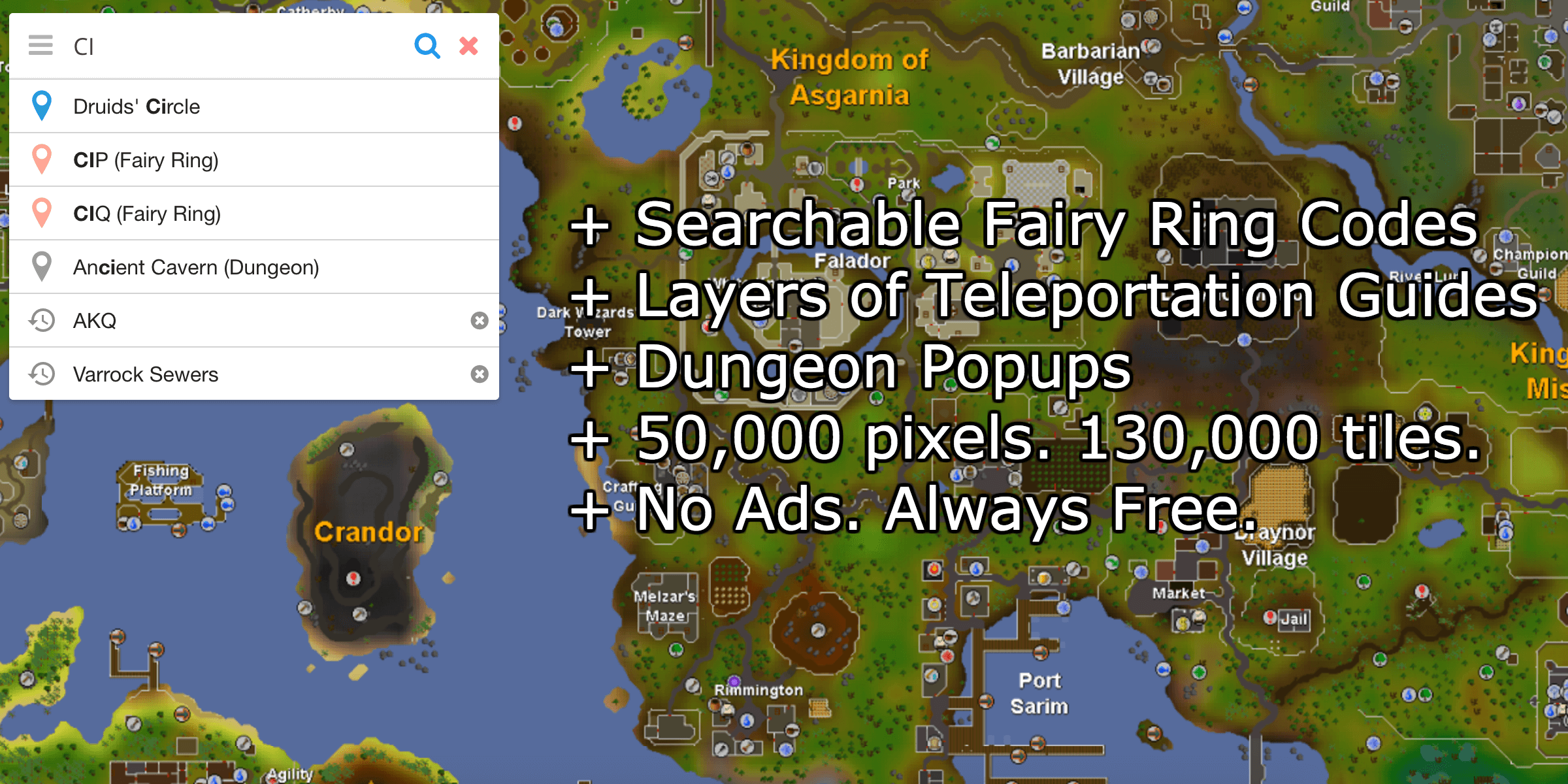 The complete map for Old School RuneScape. | Old school ...