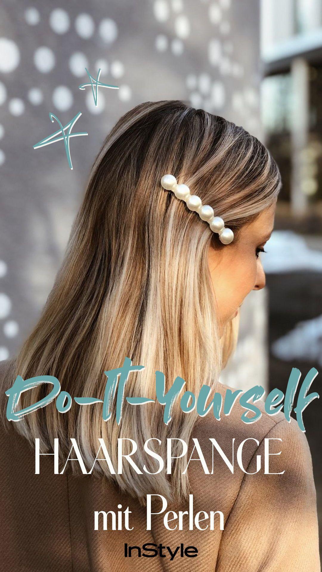 Haarspangen Diy So Einfach Bastelst Du Dir Das Trend Accessoire Selbst Haarspangen Frauen Frisuren Haare
