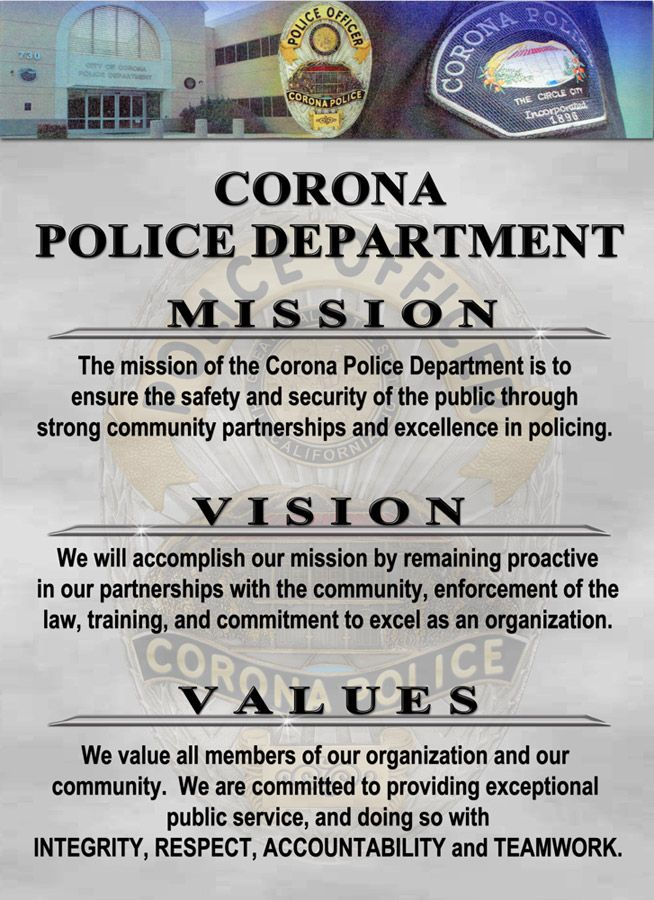 Corona Pd See Our Website Section Ethics For 100s More