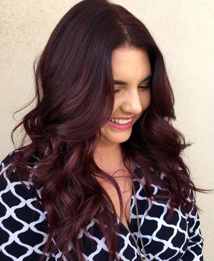 Dark reddish brown hair color #dark reddish brown #hair color