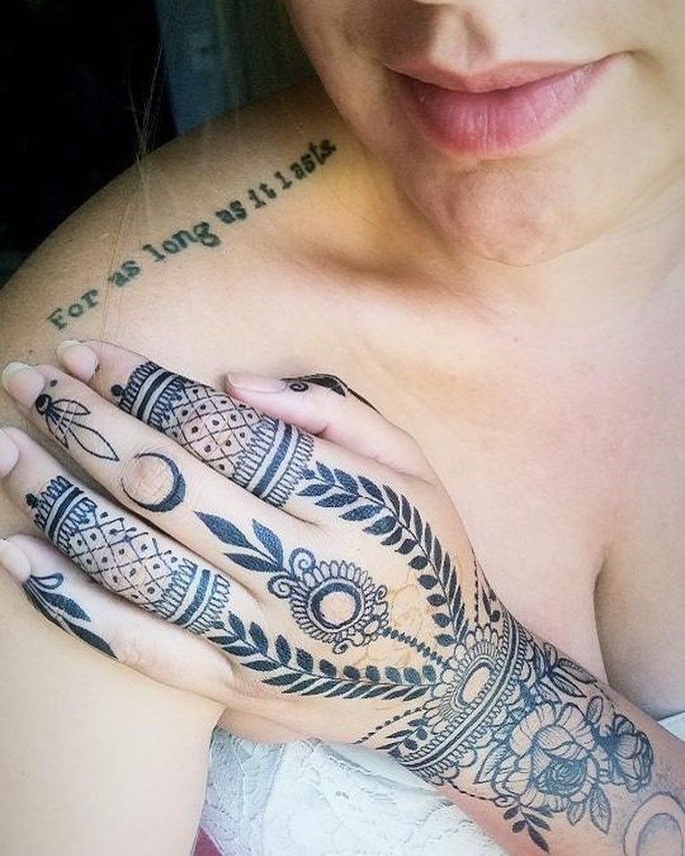 Jagua Tattoo: A Real Tattoo Next To Our Jagua Stain! Can You Tell The