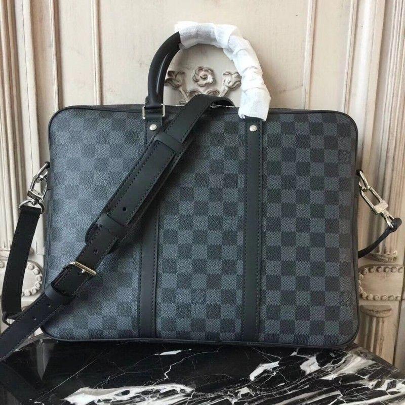 f453f57a47c Louis Vuitton N41478 Porte-Documents Voyage PM Damier Graphite ...