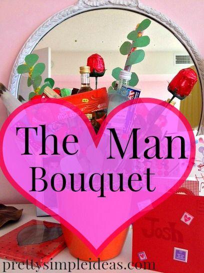 Make a Man Bouquet for Valentine\'s Day   Man bouquet, Brown paper ...