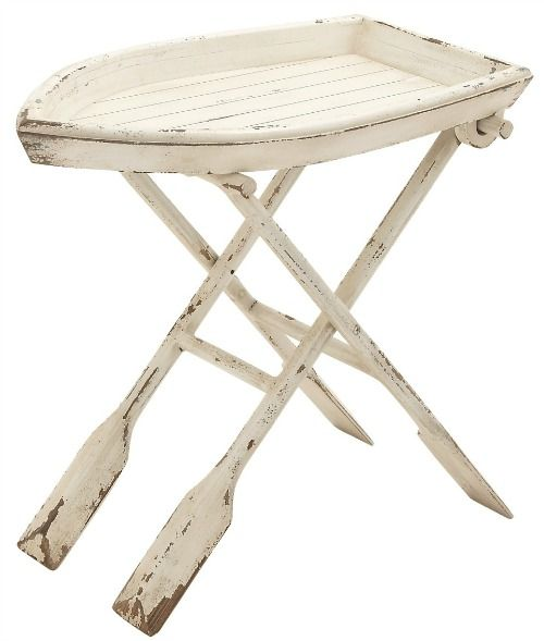 Wood Boat Table Nautical Accents Wood Folding Table Beach