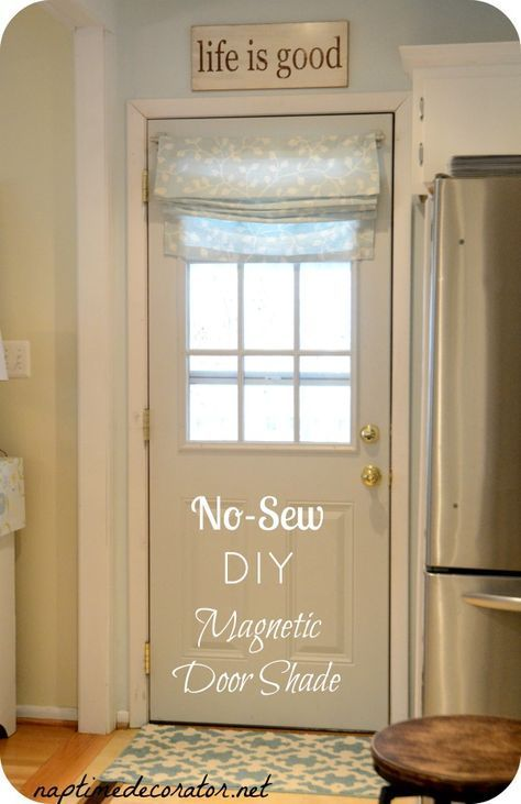 No Sew Diy Magnetic Fabric Door Shade Door Curtains Diy