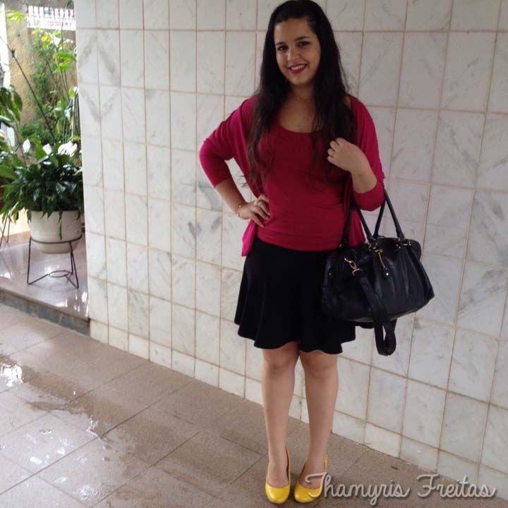 Acho Chic!: Look do dia - Sapato amarelo
