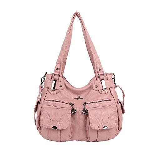 Angelkiss Women s Handbag Large Double Zipper Multi Pocke... https   smile 954a31105d9bb