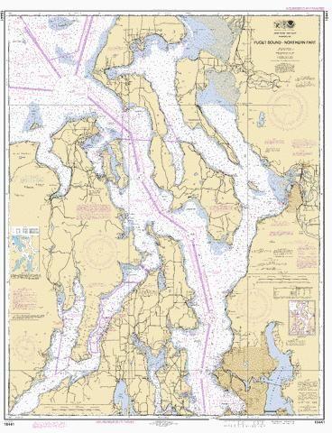Puget sound northern part marine chart nautical charts app