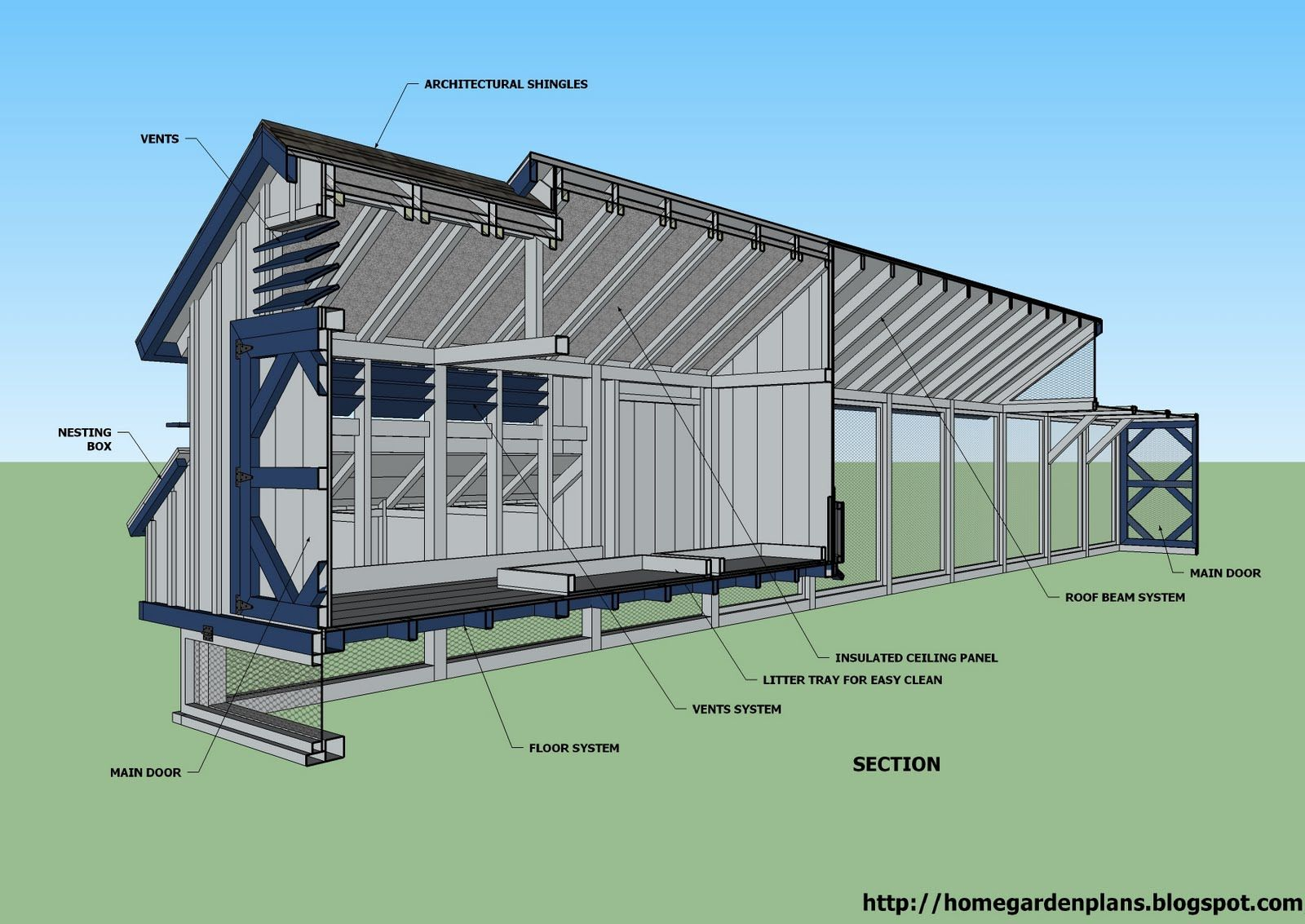 L200 Large Chicken Coop Plans How To Build A Chicken Coop