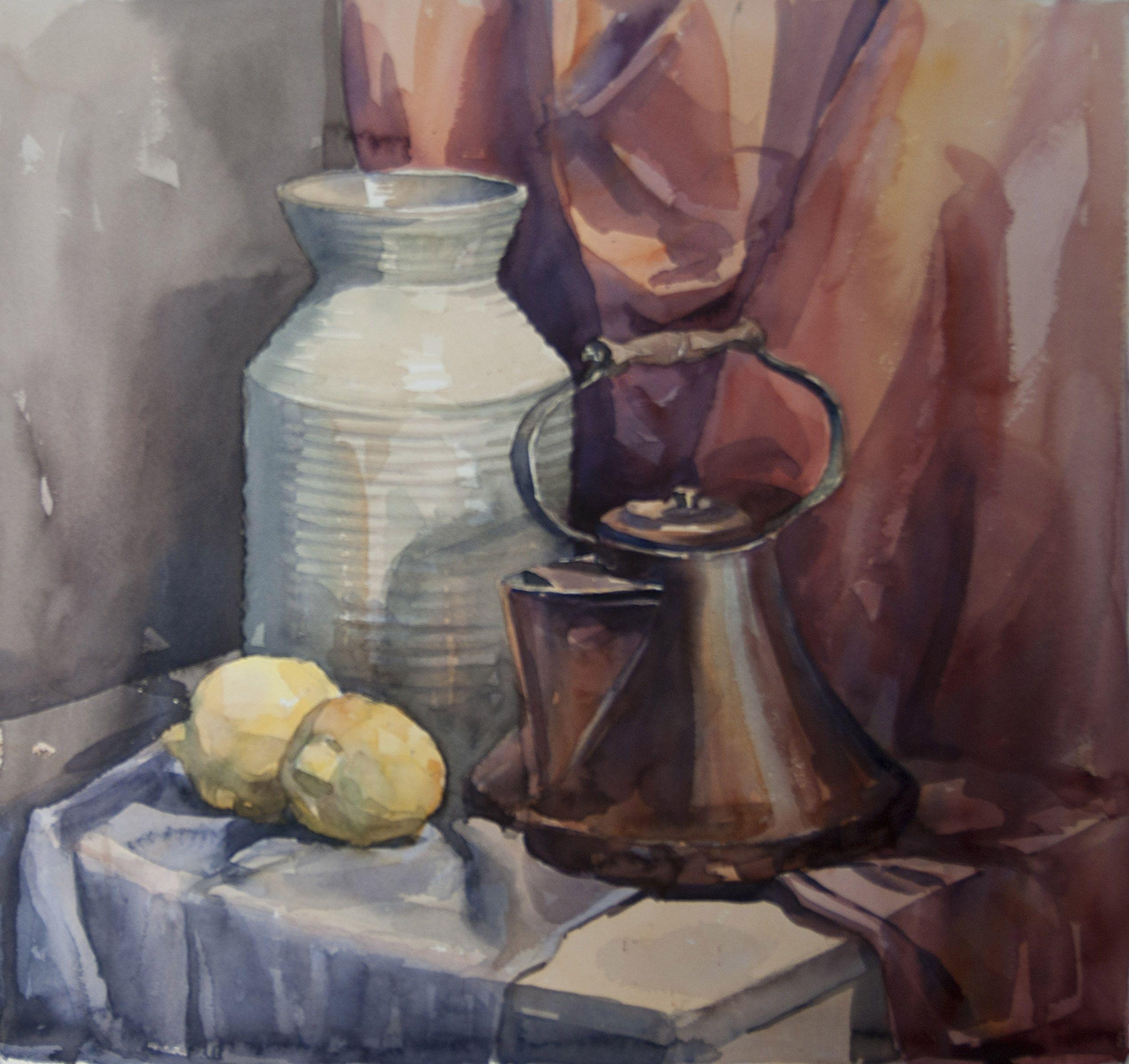 Artist Vladislav Yeliseyev Watercolor Still Life Akvarelnye