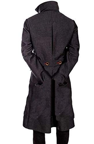 Sherlock Holmes Benedict Cumberbatch Wool Long Black Trench Coat