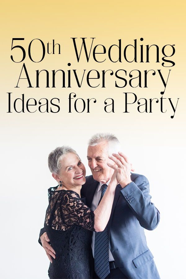 50th Wedding Anniversary Ideas for a Party