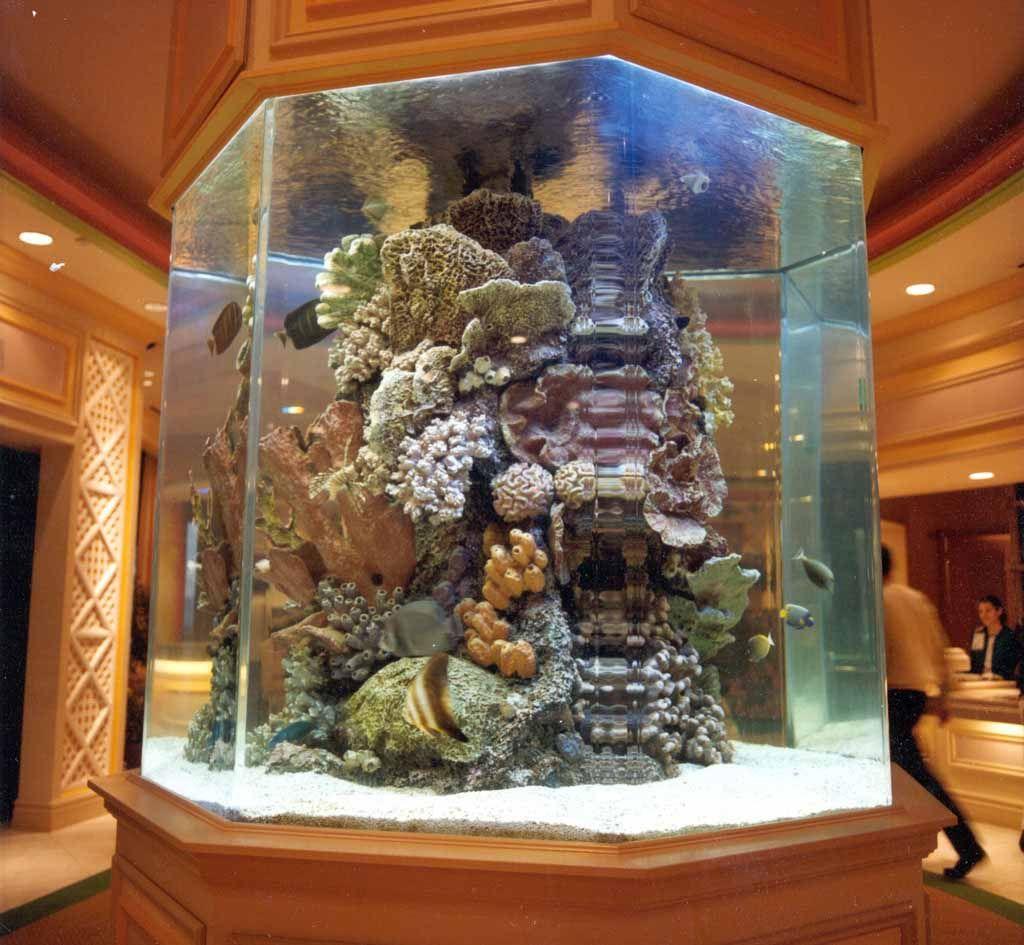 Reef artificial aquariums saltwater fish tanks up for Artificial fish tank