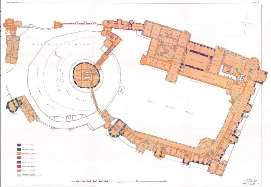 Windsor Castle Main Floor Castle Plans Castle Floor Plan European Castles