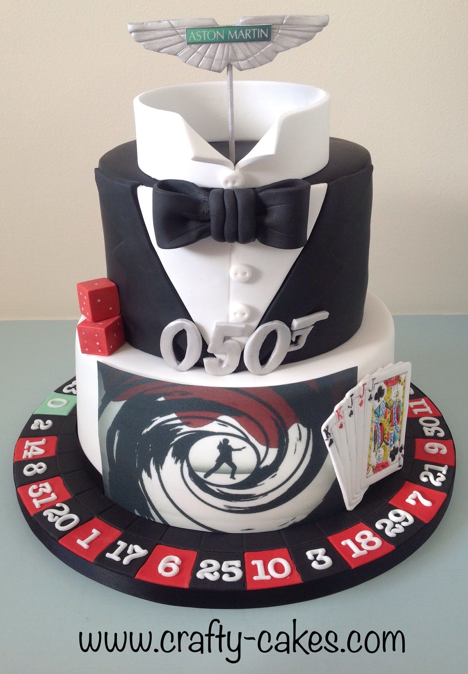 James Bond Theme Cake With Images James Bond Cake Themed