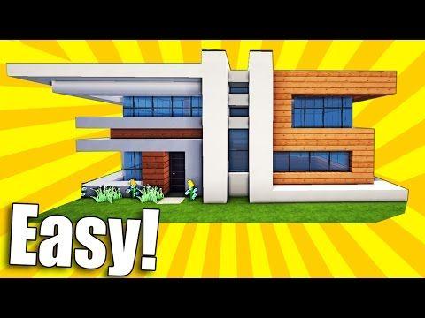 Minecraft Small Easy Modern House Tutorial How To Build A House Minecraft Minecraft House Tutorials Minecraft Modern