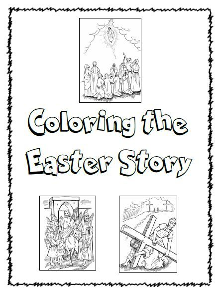 coloring the easter story   homeschool  bible  easter
