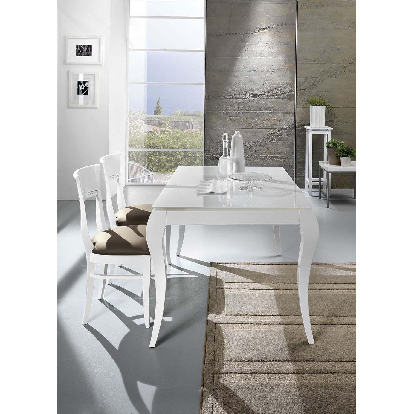 Tavolo allungabile in vetro Victor di Friulsedie, con elegantissime ...
