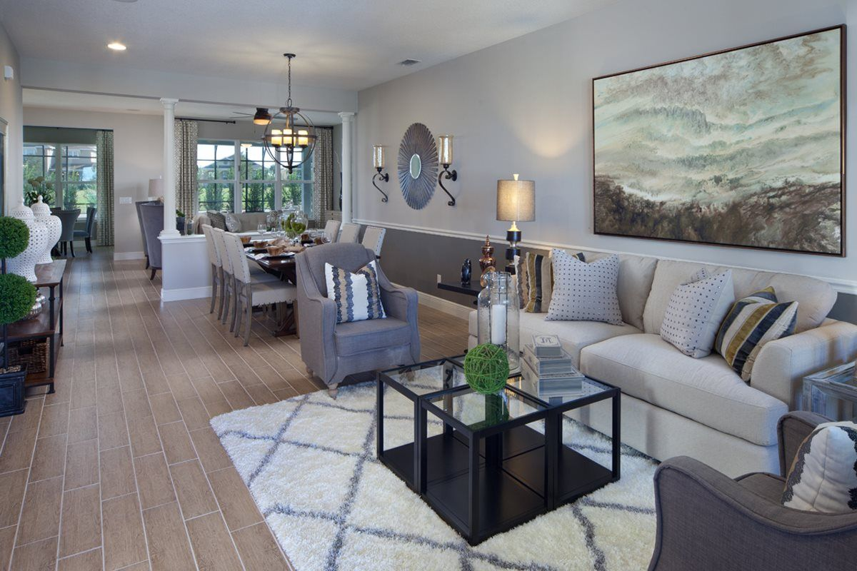 New Homes In Winter Garden, FL   Orchard Park 2517 Living/Dining As Modeled