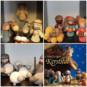Bit Of Color Stonewashed Kerststal Haken Navidad Nacimientos