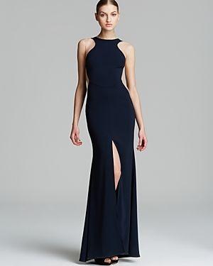 931f977d1a Nicole Bakti Gown - High Neck Illusion Side Front Slit on shopstyle.co.uk