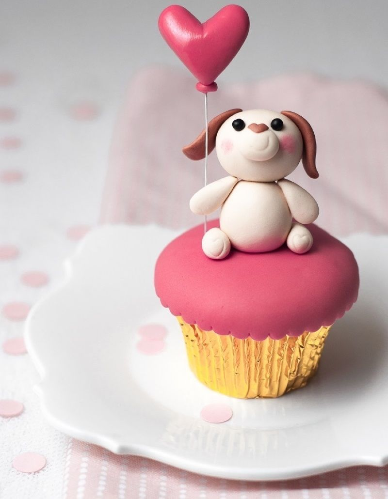 Puppy love valentine day cupcakes pinterest birthday cakes and