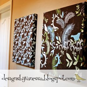 Designs By Vanessa: How To: Fabric Wall Art