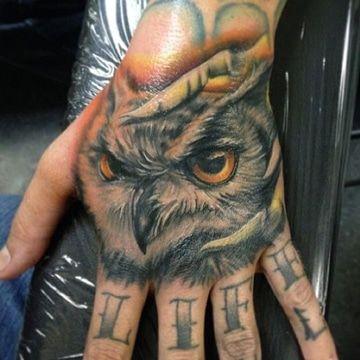 Significados Y Diseños De Tatuajes De Buhos En La Mano Símbolos