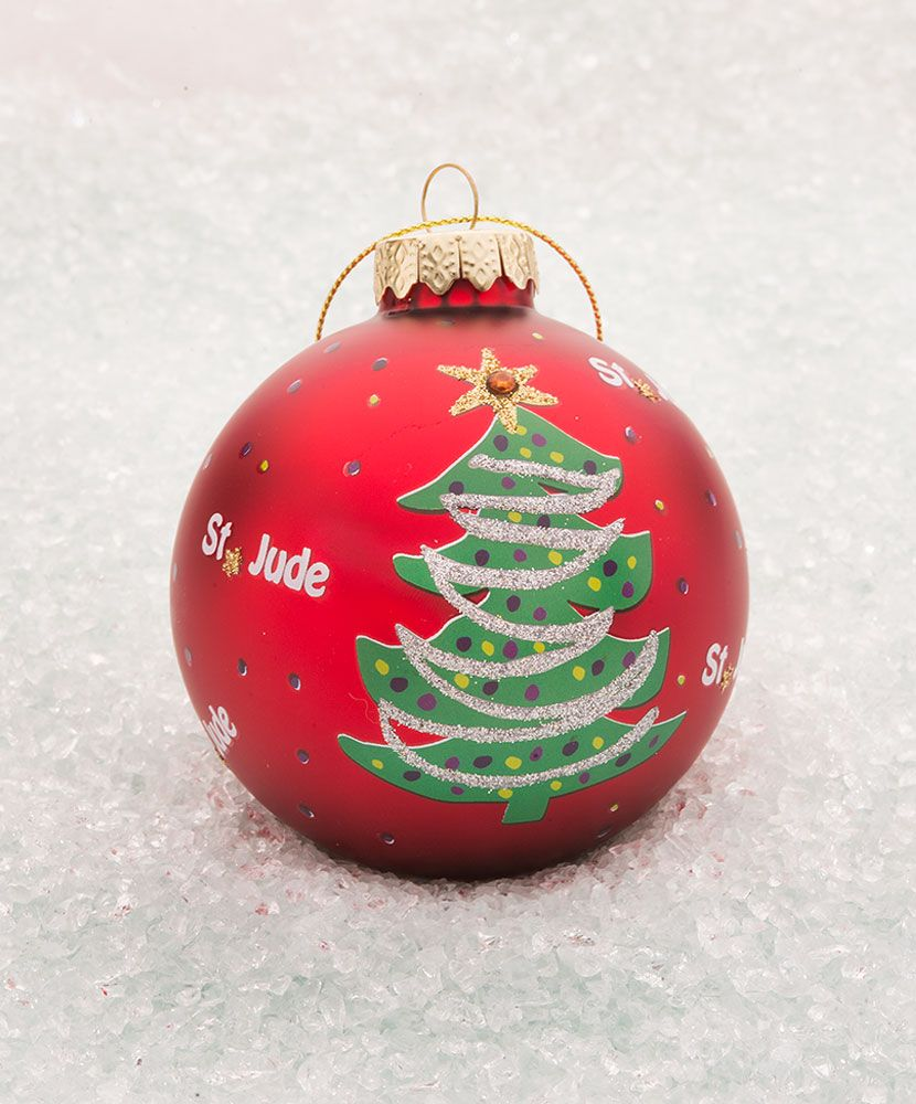Item Number: 413200000 Share In The Festive Fun Of The Season And Support St  Jude With These Glass Holiday Ornaments Each Ornamentesplete With
