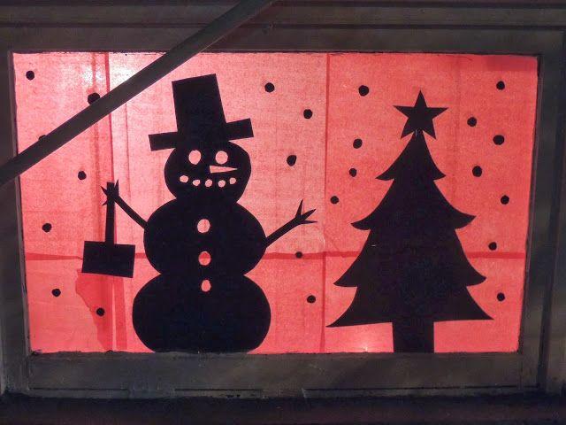 Diy Christmas Window Silhouettes Christmas Cube