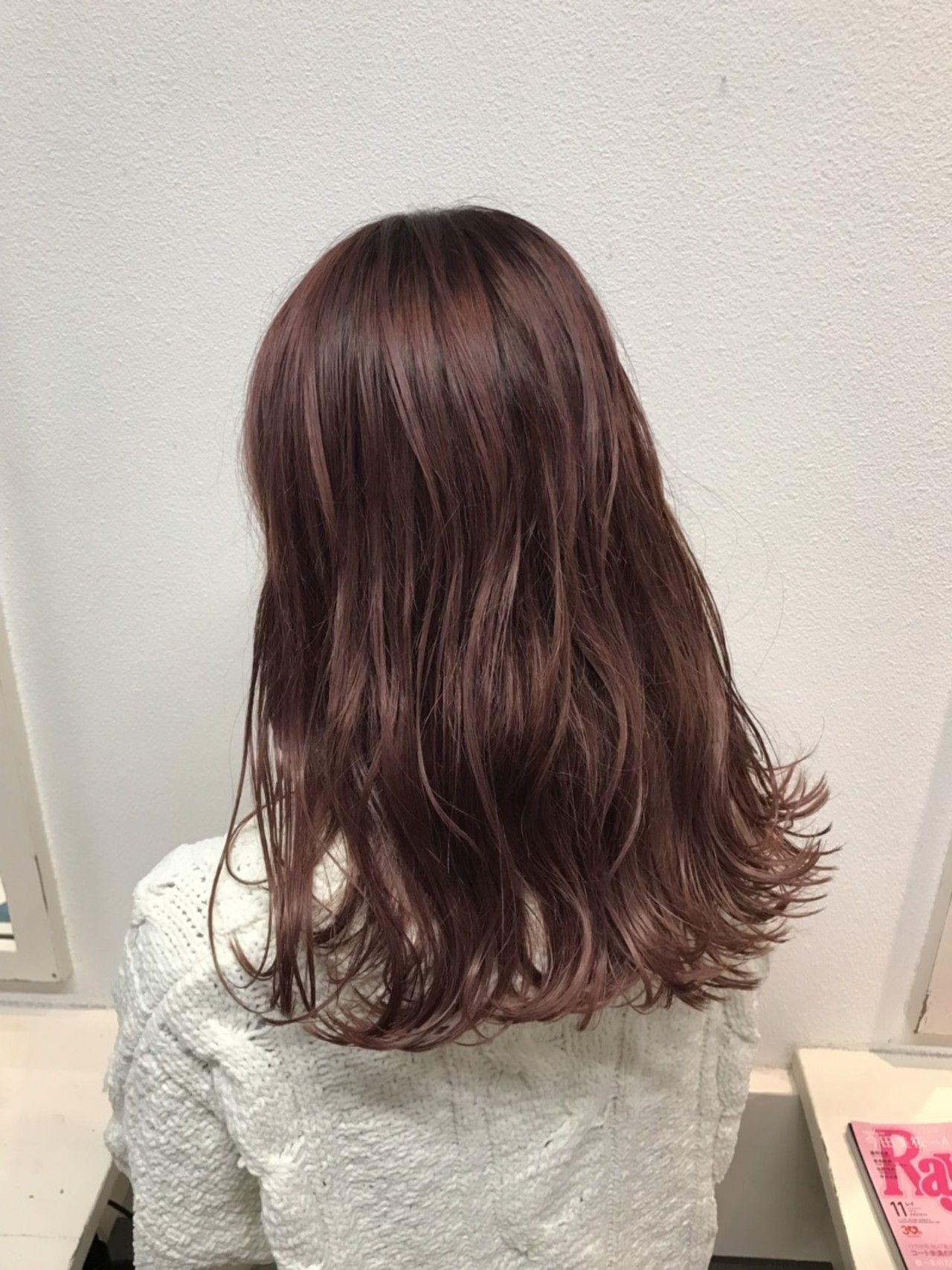 春のヘアカラーはピンクがかわいい モテ髪色レシピ集 ヘアスタイル