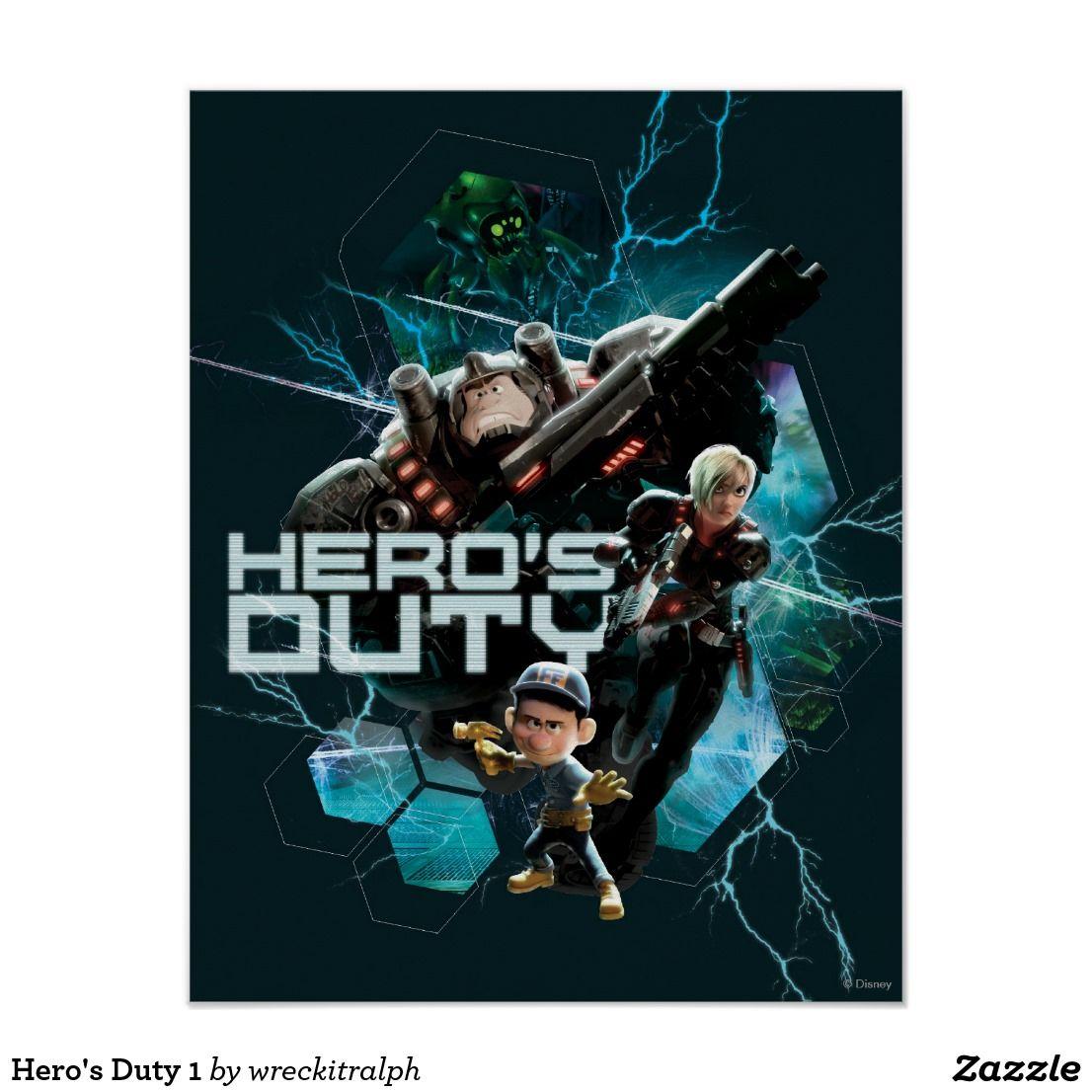 Hero's Duty 1 Poster | Zazzle.com #wreckitralph