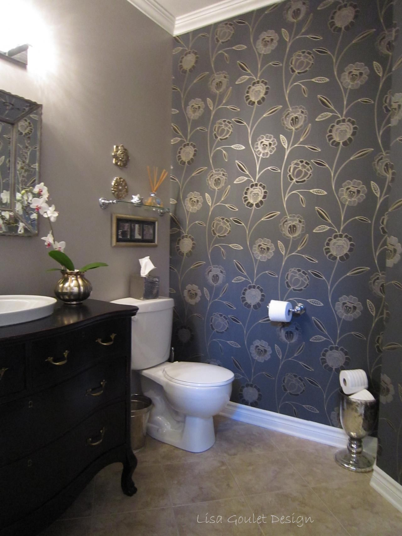 how to decorate bathroom wallpaper safe home inspiration
