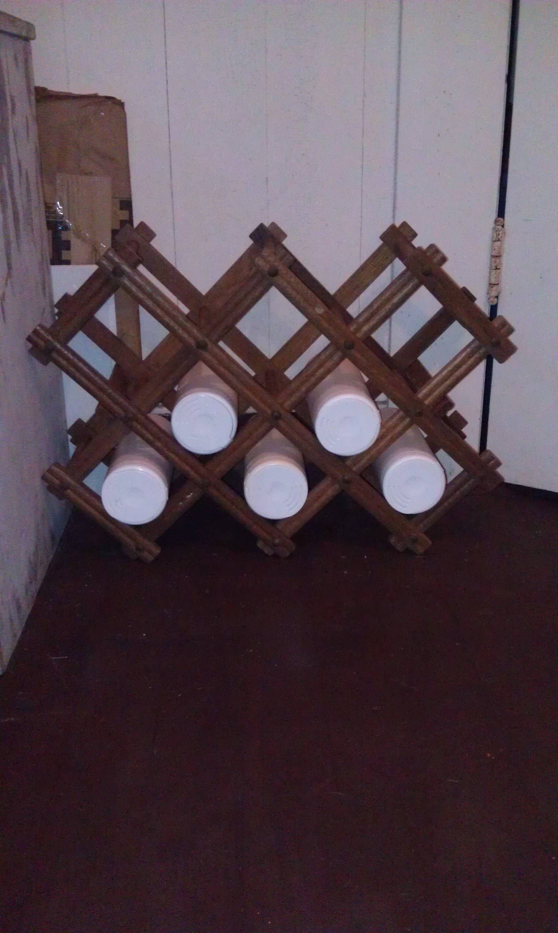 Other Uses For Wine Racks Upcycle Clorex Wipe Containers And Old Wine Rack For Fun
