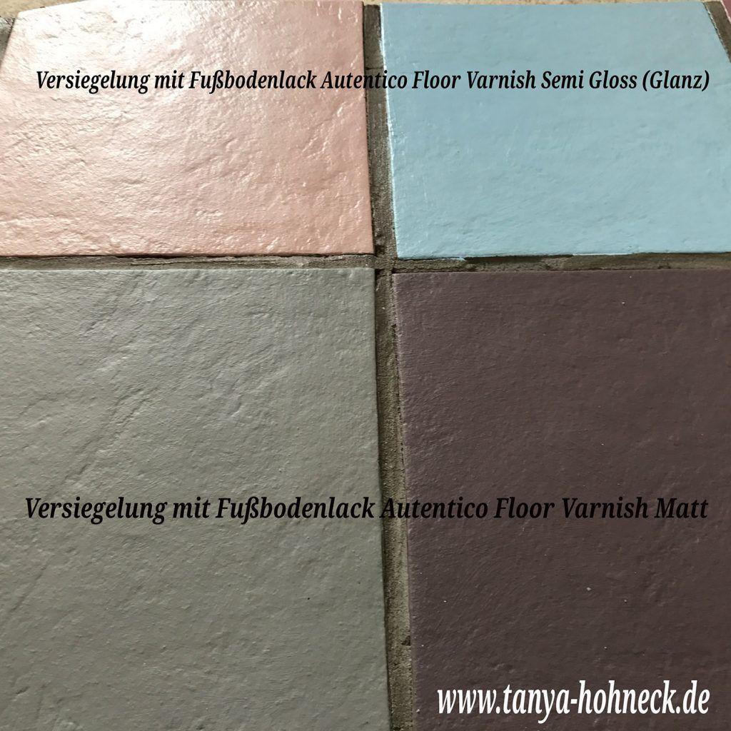 Sehr Fliesen streichen und Fußboden versiegeln, Fußbodenlack Autentico WF53