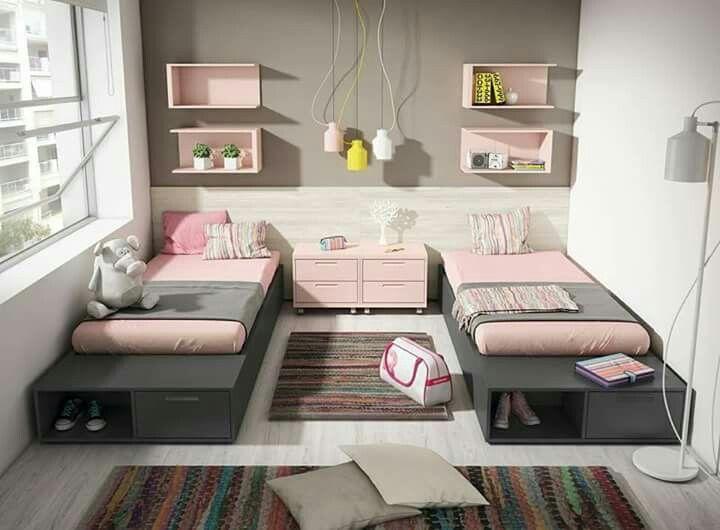 Two beds girls room slaapkamer slaapkamer meiden