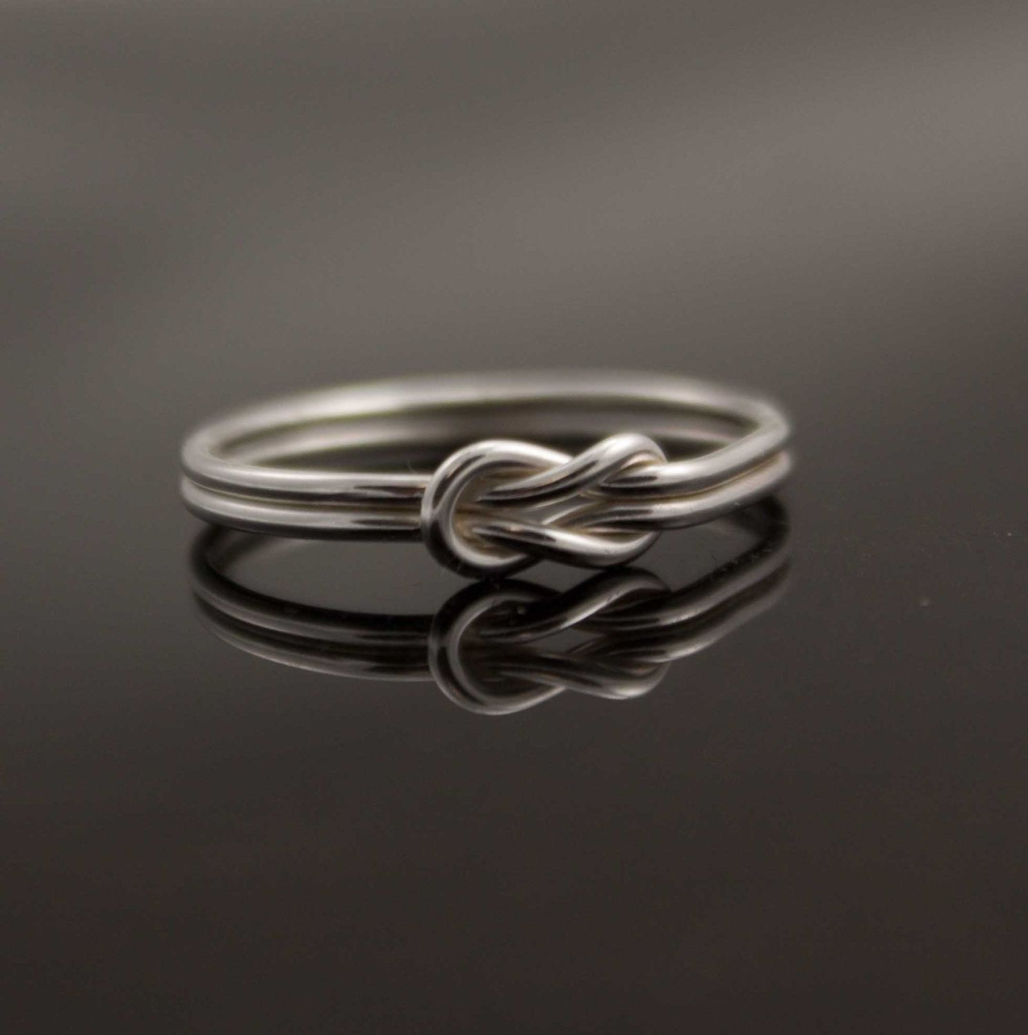 7f8a9d5788260 Infinity ring. Sterling Silver knot ring Nautical ring Promise ring ...