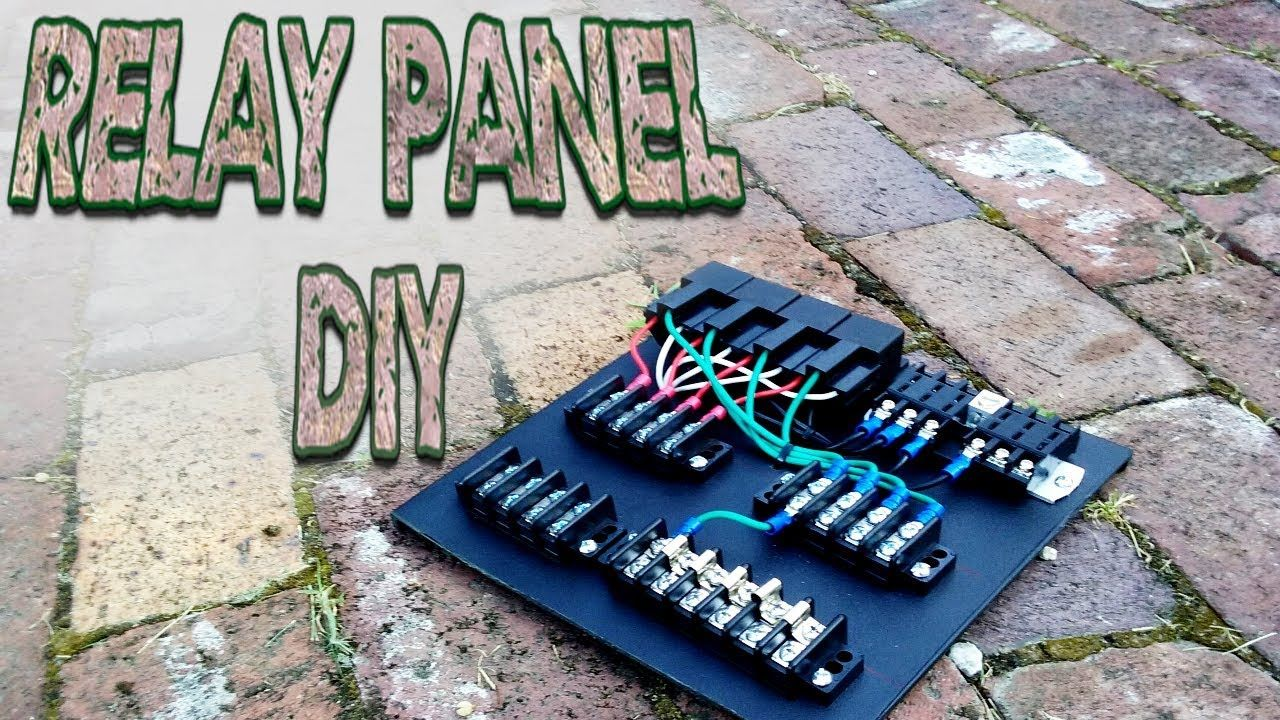 Custom Relay Panel DIY Part 1 YouTube Auto
