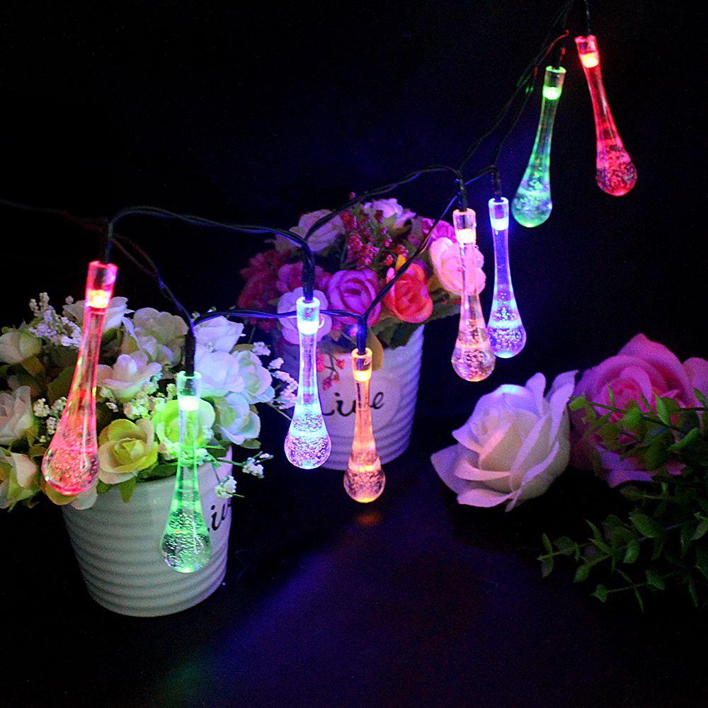 Fairy light wedding decoration ideas   LEDs Water Drop Shape LED Garden Fairy Lights for Wedding Party